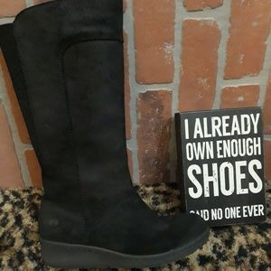 Born Brandenburg Wedge Boots Black NEW 6 M DEAL!!!